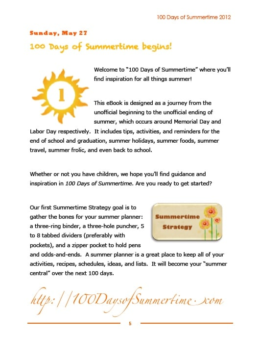 2012 100 Days of Summertime Day 1